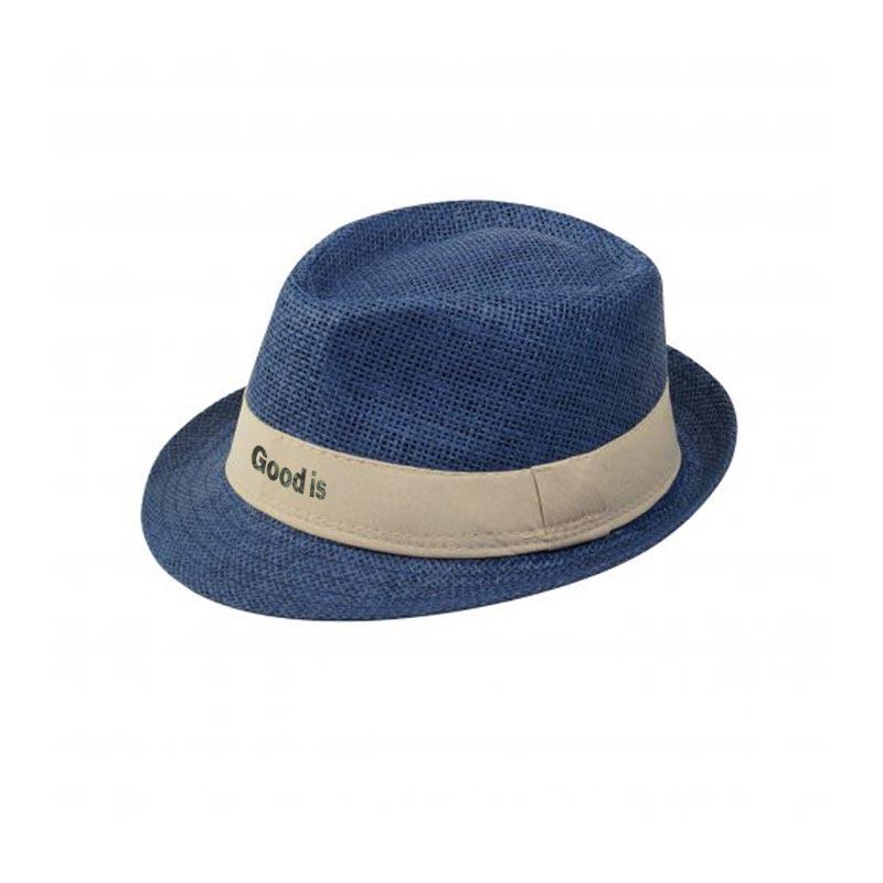 Chapeau publicitaire Trilby - bleu