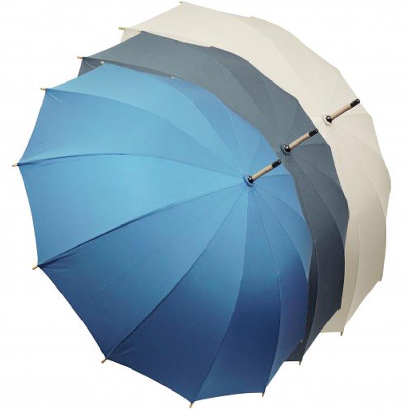 Parapluie ville Chiccity personnalisé - bleu gris beige
