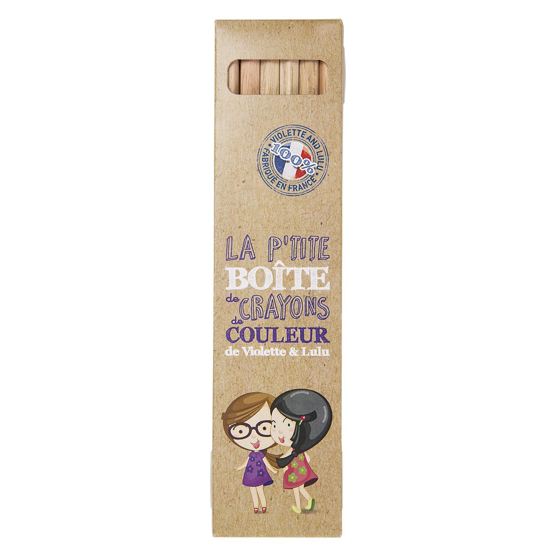 Goodies enfants - étui de 6 crayons de couleur publicitaires Eco 17,8