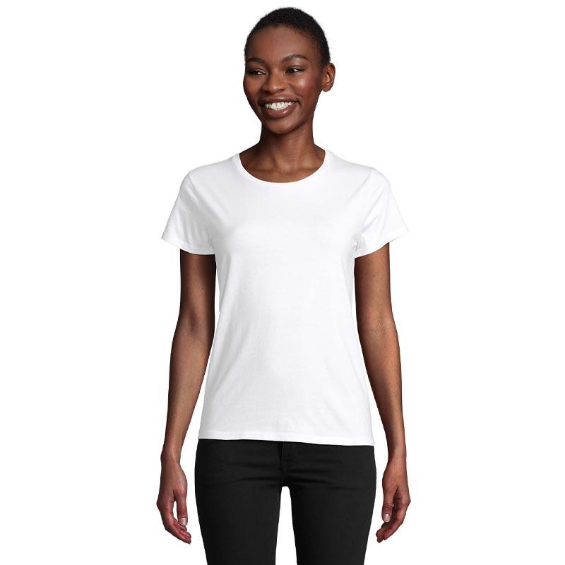 T-shirt publicitaire pour femme en coton bio Pioneer