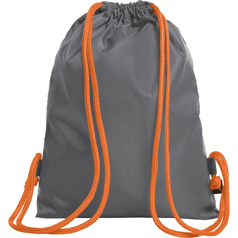 Sac à dos publicitaire bicolore Paint gris - orange