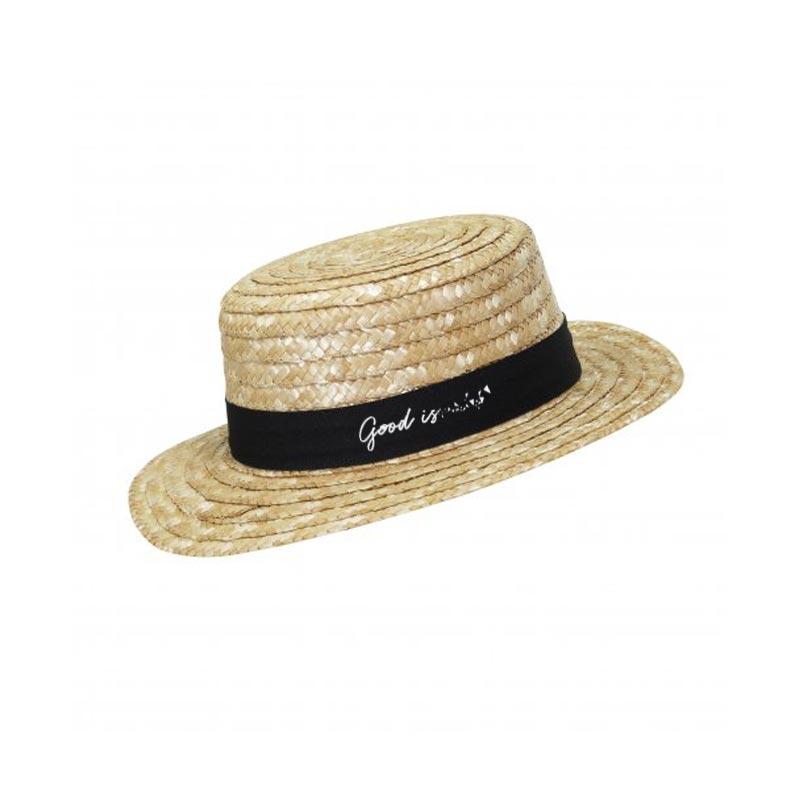 Chapeau de paille publicitaire Canotier - Cadeau d'entreprise