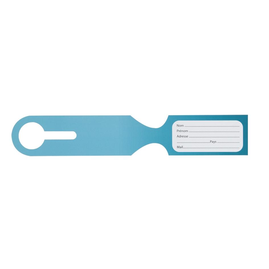 Étiquette à bagages personnalisable Distance - cadeau d'entreprise