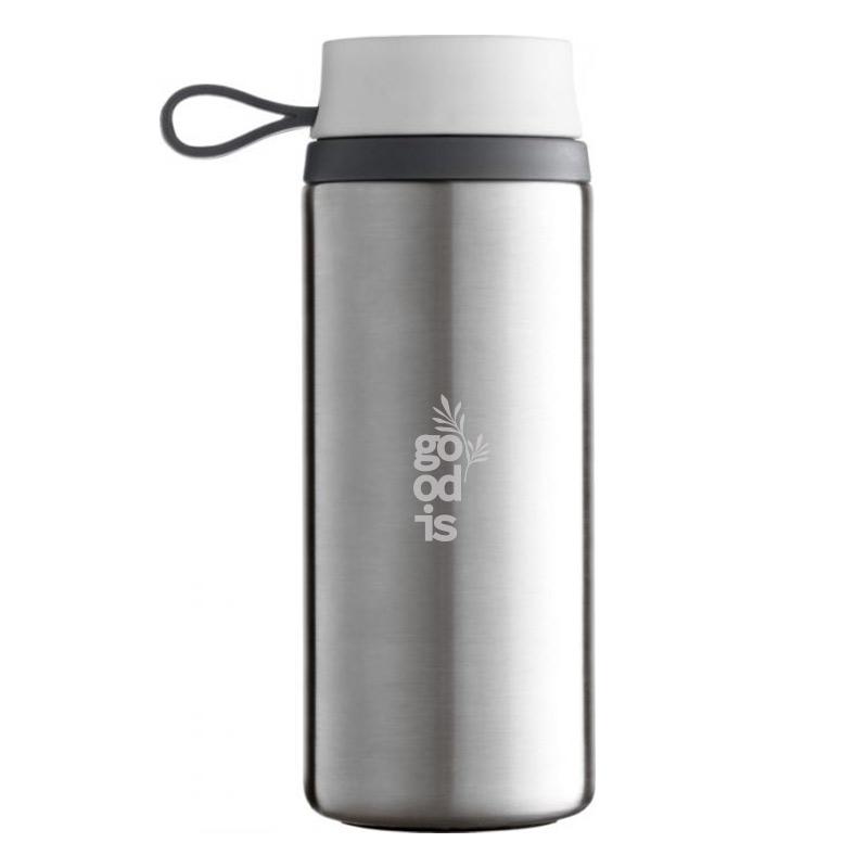 Mug isotherme personnalisable Flow 350 mL - Coloris argent