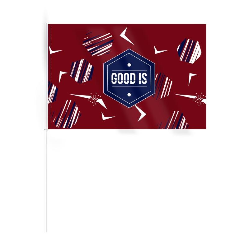 Drapeau publicitaire en rPET Ecoflag - Goodies supporter