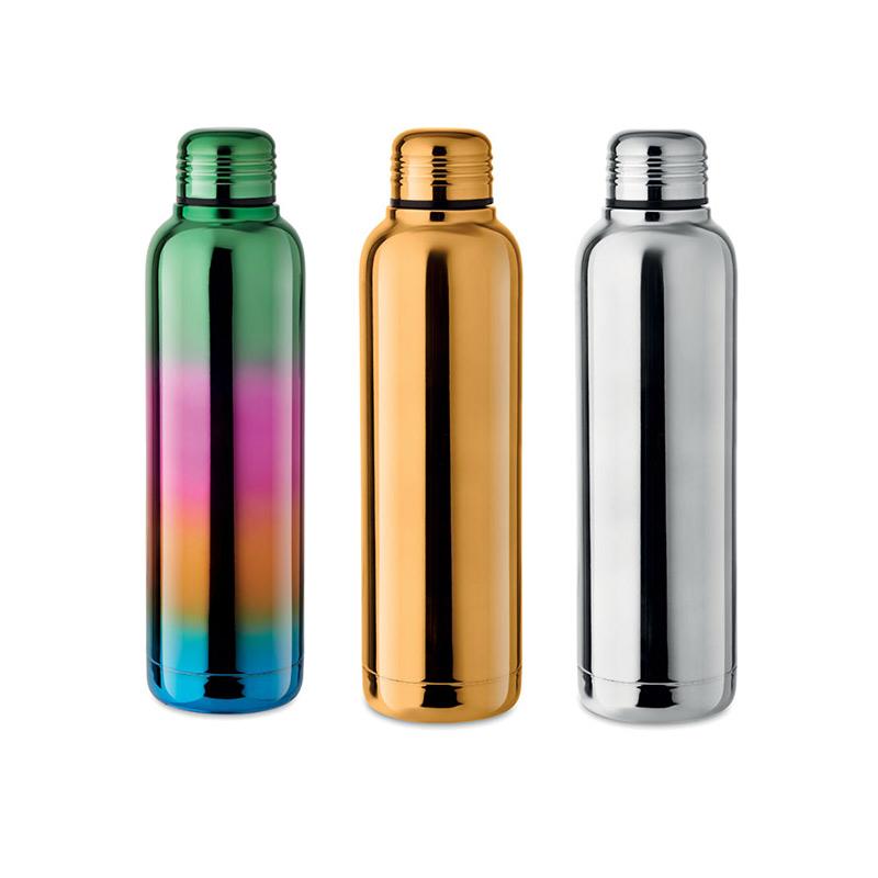 Gourde publicitaire brillante Boreal - bouteille personnalisée 3 coloris