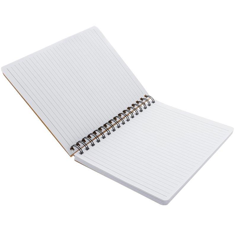 Carnet A5 en kraft & notes mémo Noteme - pages lignées