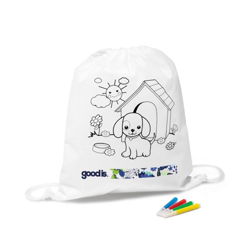 Cadeau promotionnel - Sac à dos à colorier Snoopy