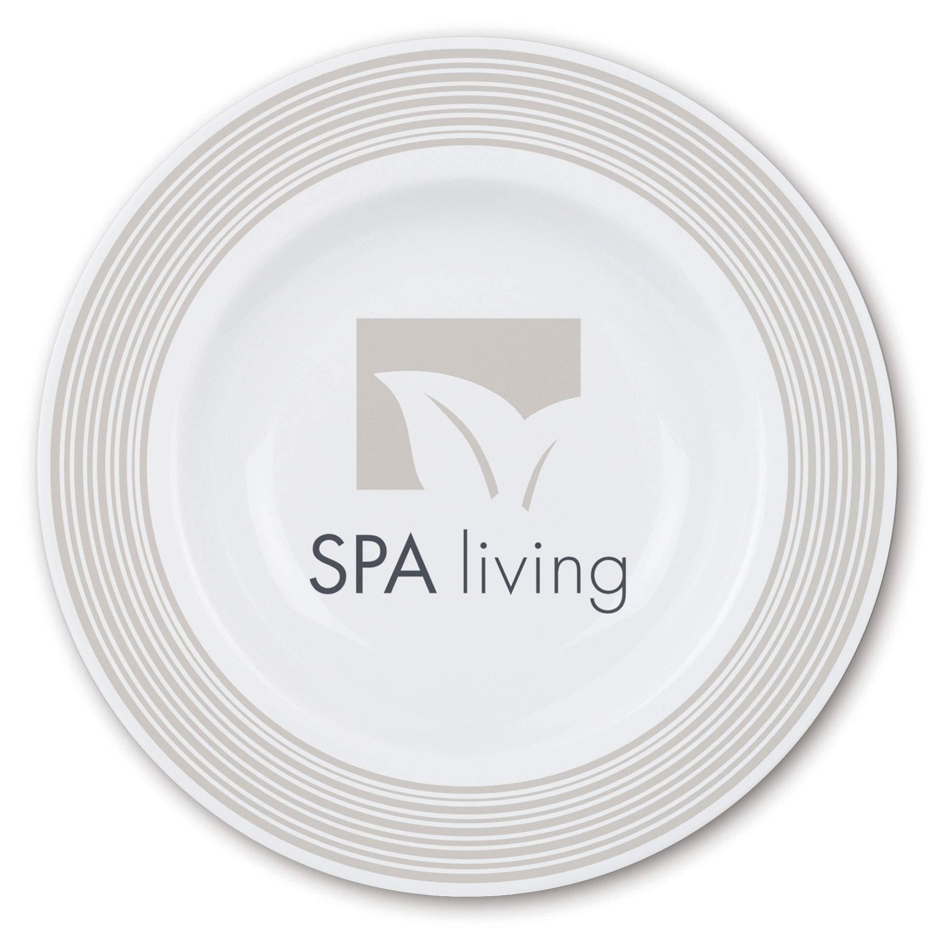 Assiette publicitaire porcelaine blanche fancy - cadeau publicitaire