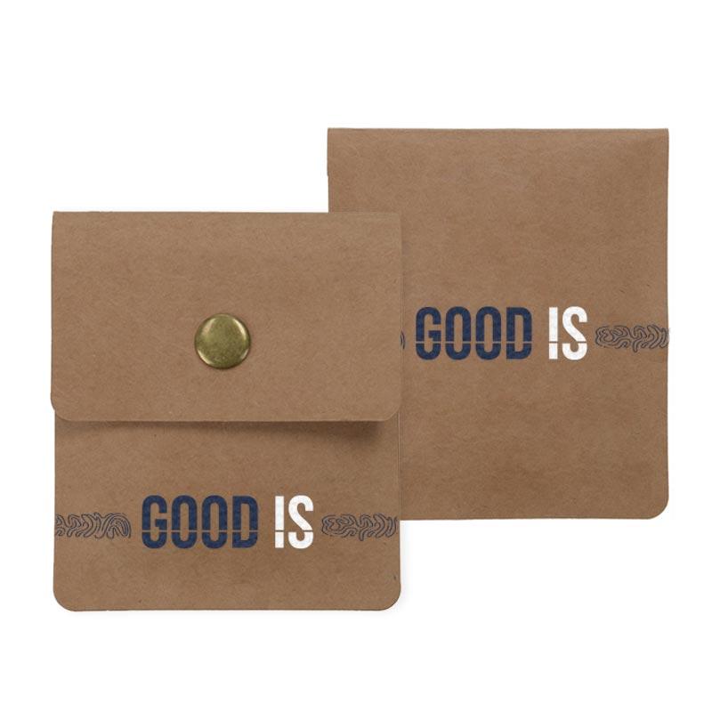 Cendrier de poche publicitaire en papier Cendkra - Recto verso
