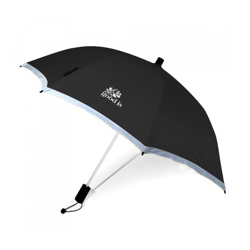 parapluie publicitaire écologique Trecking - noir