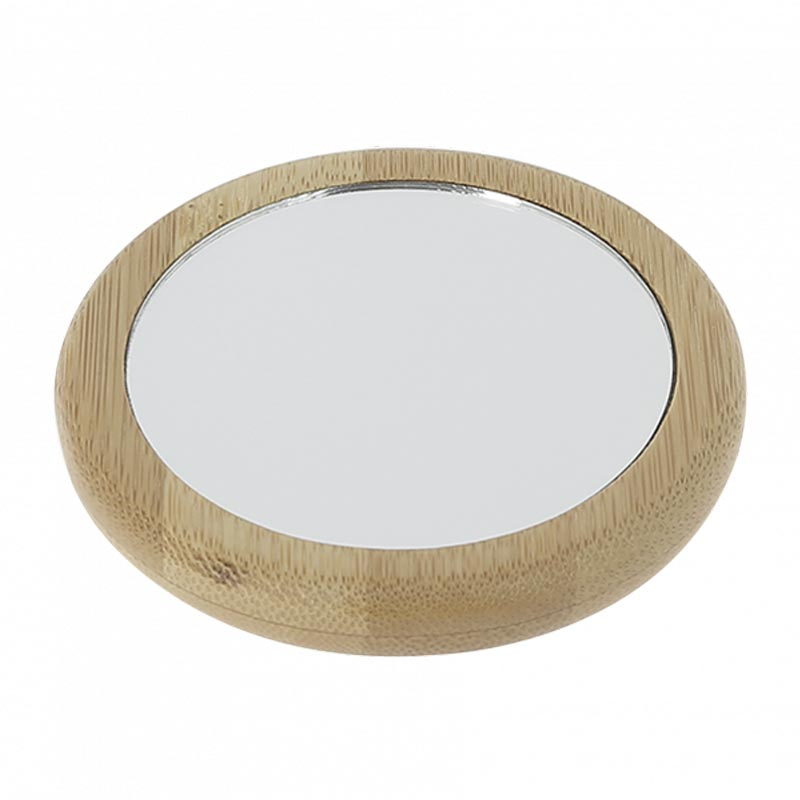 miroir de poche en bambou