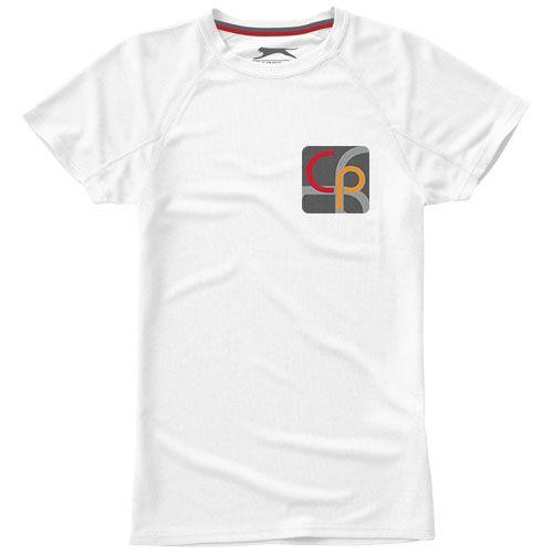 T-shirt personnalisé cool fit manches courtes pour femmes Serve - blanc