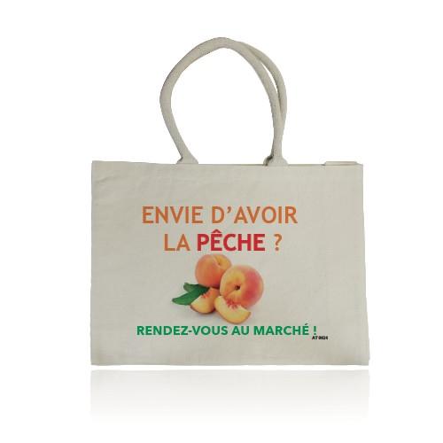 Sac shopping publicitaire écologique Quadribag - tote bag personnalisable