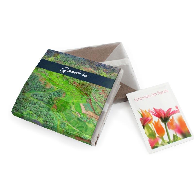 Kit de plantation publicitaire à graines Pocket Coco