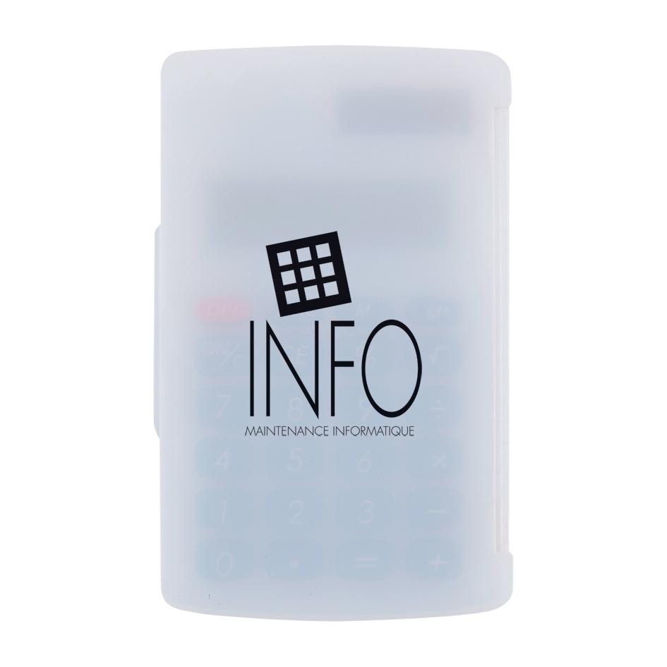Calculatrice personnalisable écologique Intello - objet publicitaire