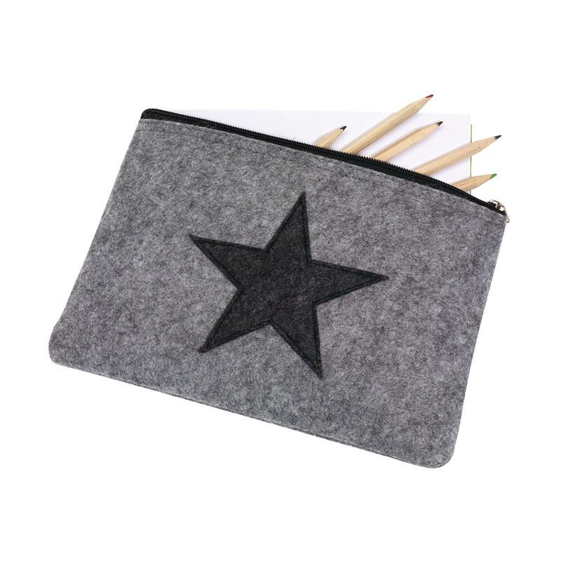 Pochette publicitaire feutrine étoile Star Dust - cadeau publicitaire