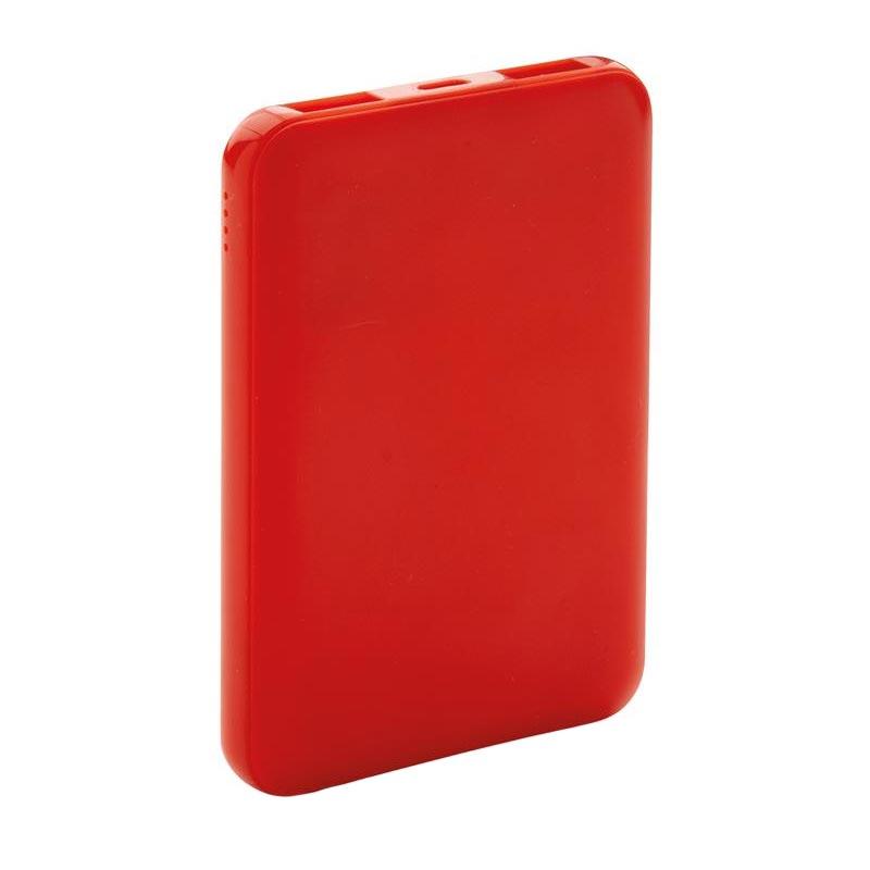 batterie de secours publicitaire de poche 500 mAh - coloris rouge