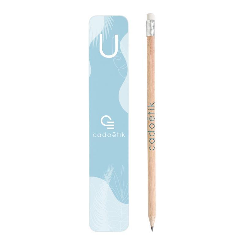 Kit marque-page publicitaire et crayon à papier Eco