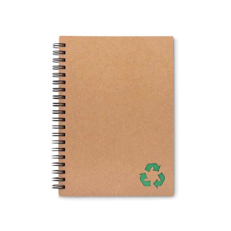 Cahier personnalisable à spirales 70 feuilles STONEBOOK