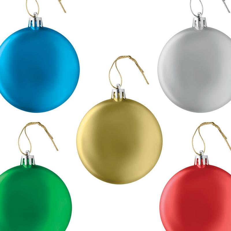 Boule de Noël plate Lia Ball couleurs
