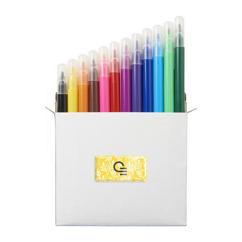 Set de 12 crayons feutres publicitaires