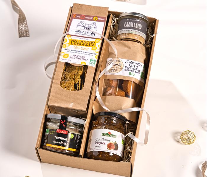 Panier gourmand entreprise bio 5 spécialités nantaises