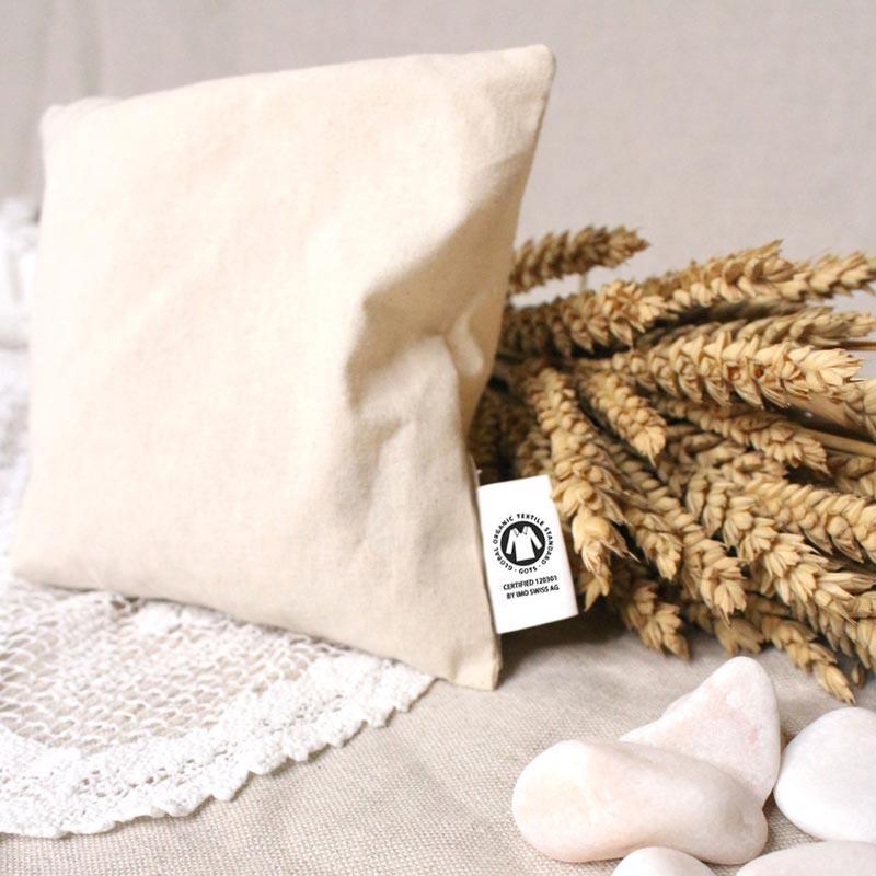 Coussin de cerise publicitaire en coton bio 1 compartiment - Goodies écolo