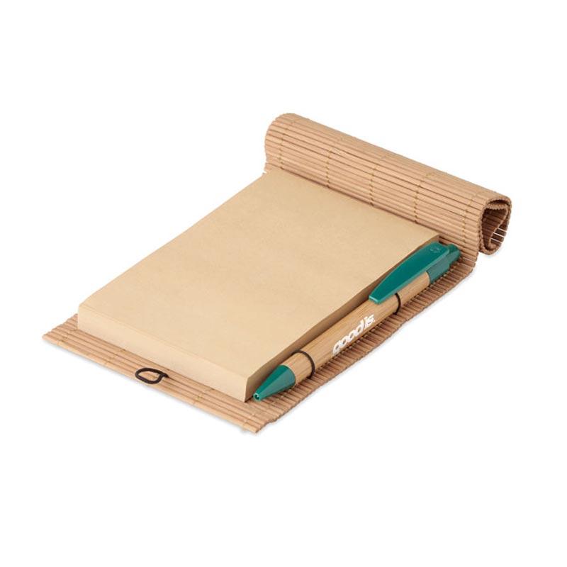 Carnet bambou avec stylo CORTINA