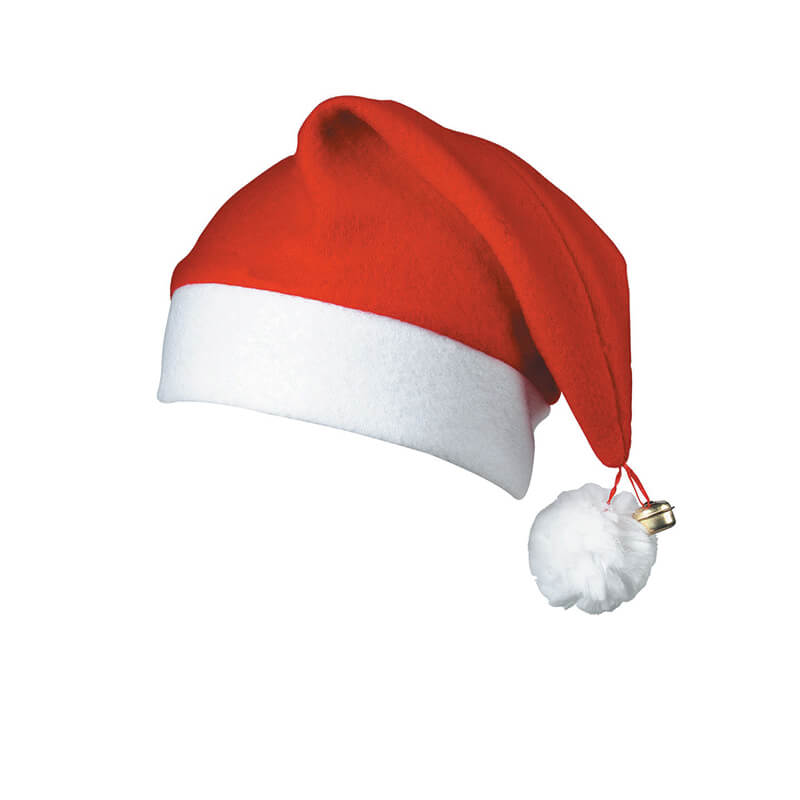 Bonnet de père Noël à pompom - rose