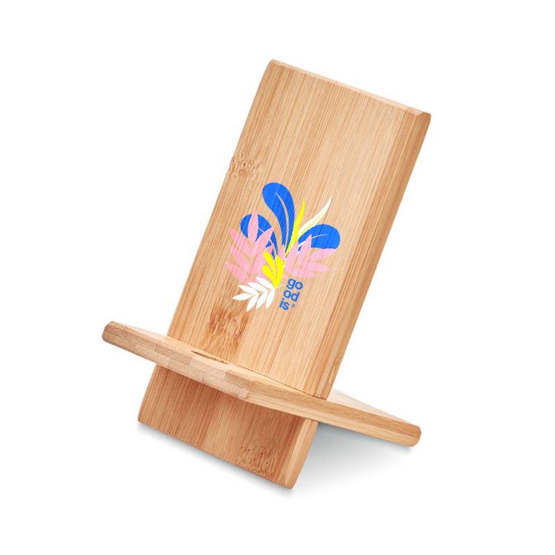 Support de téléphone personnalisé en bambou Whippy
