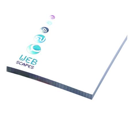 BIC® Bloc-notes publicitaire écologique 68 x 75 mm papier recyclé