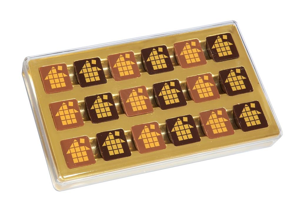 Chocolat publicitaire - Boîte de chocolats personnalisés De Boissy 180 g