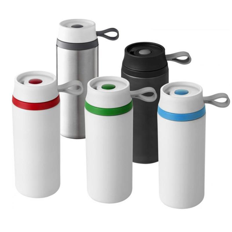 Mug isotherme publicitaire Flow 350 mL - Coloris disponibles