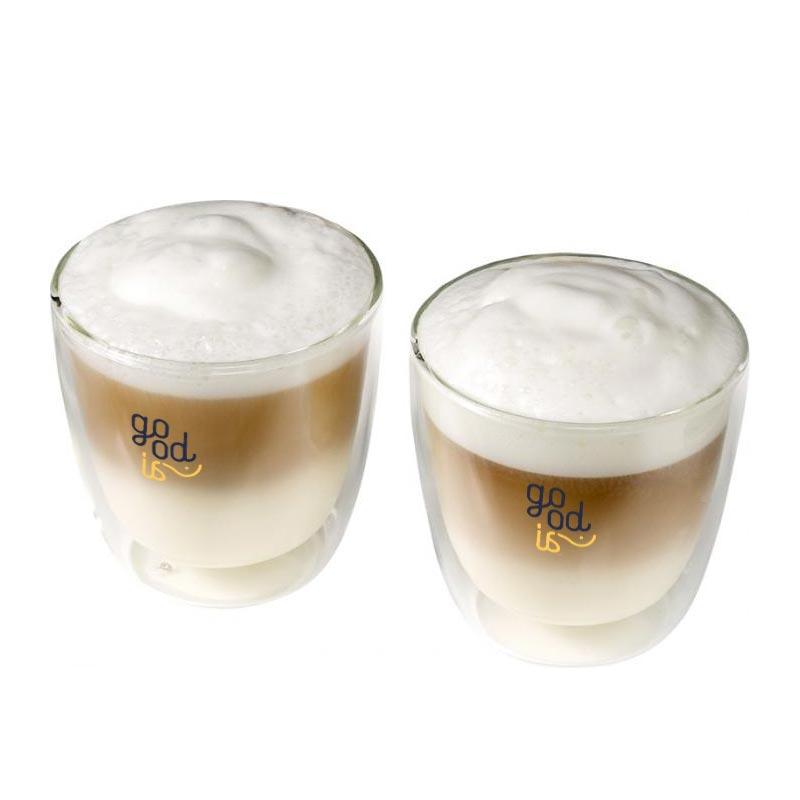 Set cappuccino 2 pièces Jeff - tasse à café publicitaire