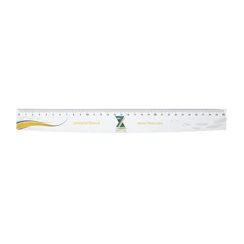 Règle publicitaire à la forme quadri Rya - règle personnalisée 30 cm