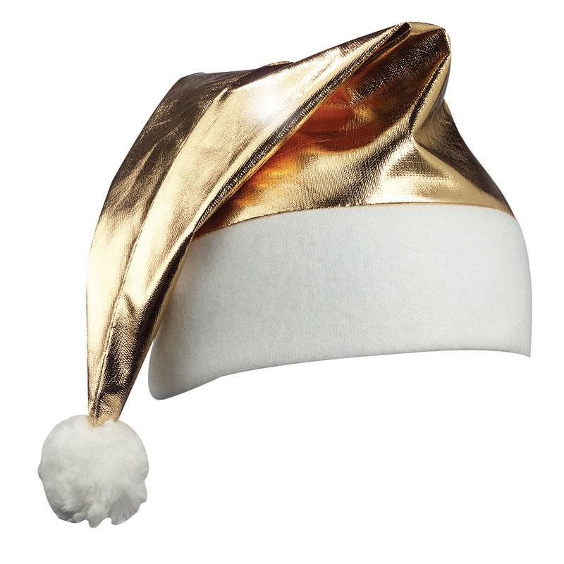 Goodies - Bonnet de père Noël brillant publicitaire - vert