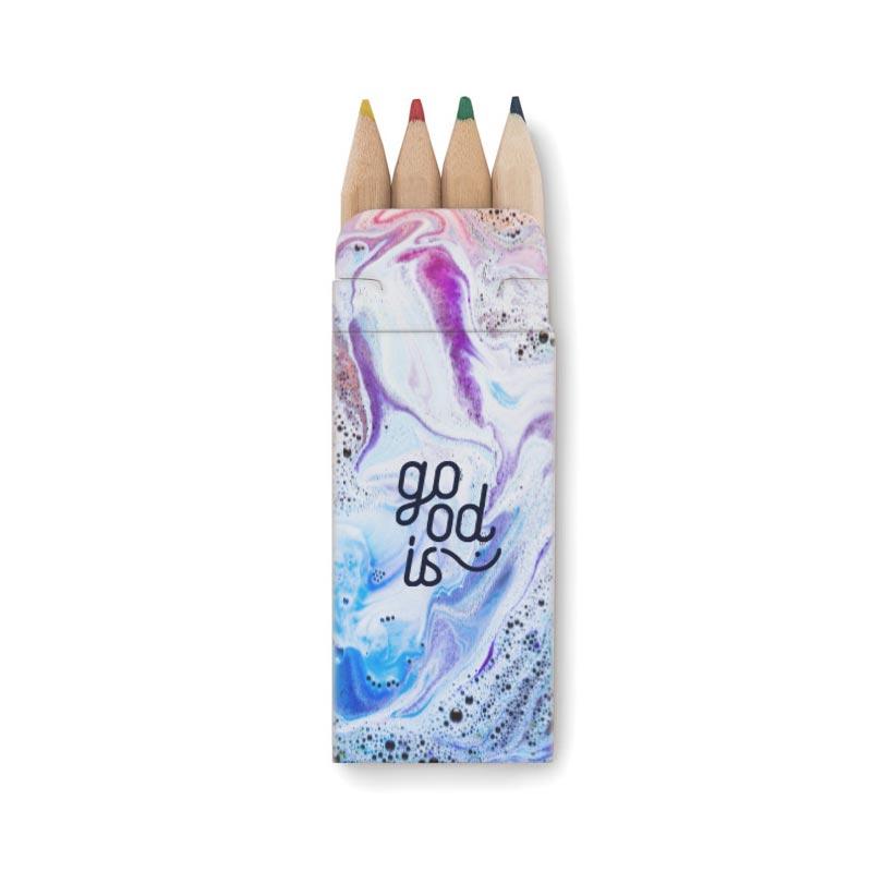 Boite personnalisable de 4 crayons de couleur Petit Abigail