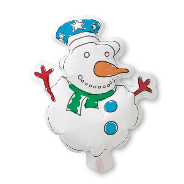 Goodies hiver - Ballon à colorier personnalisable Snowball