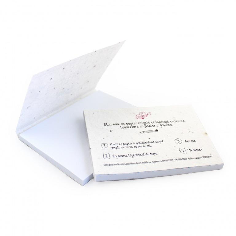 bloc-notes publicitaire en papier recyclé et couverture à graines 1