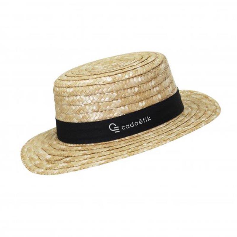 Chapeau de paille publicitaire Canotier - Chapeau publicitaire écologique