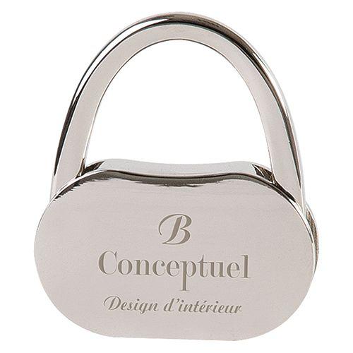 cadeau publicitaire femmes - Accroche-sac personnalisé métal Cadenas