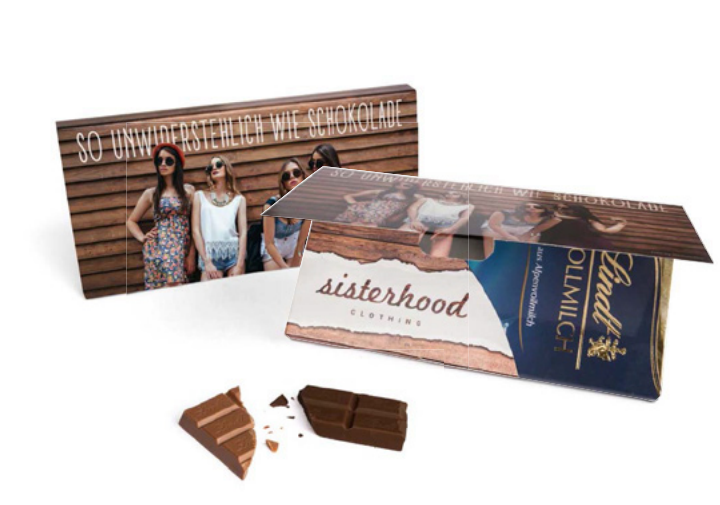 Tablette de chocolat Lindt publicitaire prêt à envoyer