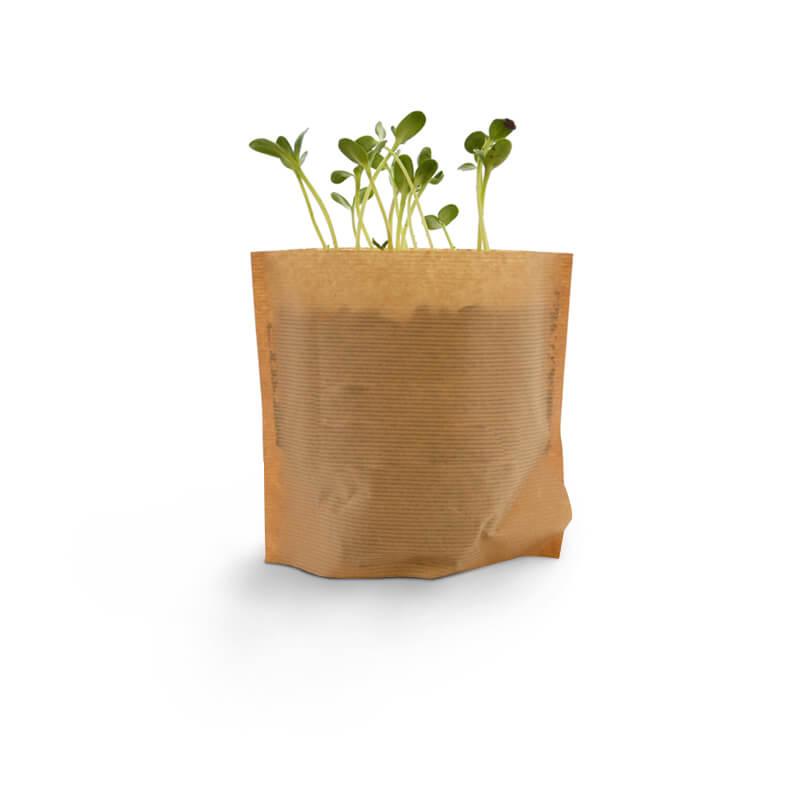 kit de plantation publicitaire express - Pot Kraft Easy