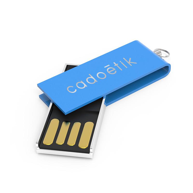 Clé USB publicitaire Micro Twist - Coloris bleu