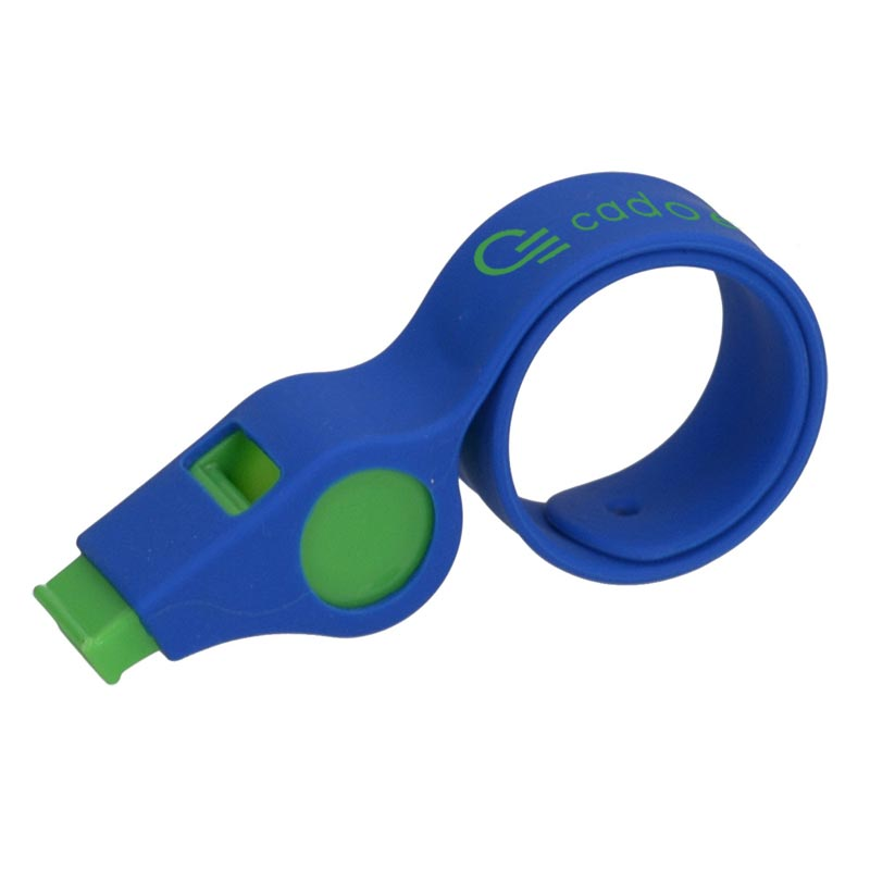 Bracelet publicitaire avec sifflet Silisnap - Goodies supporter