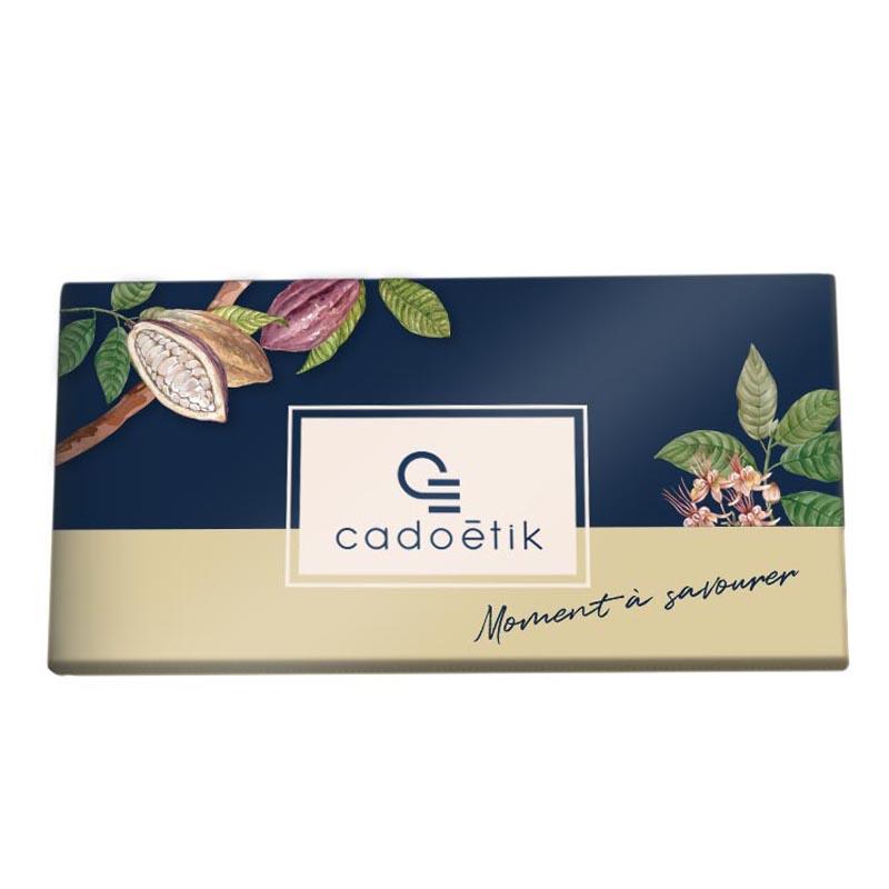 Goodies chocolat - Carte 3 barres chocolatées quadri