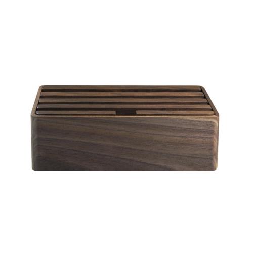 Station de chargement en bois de noyer - Cadeau d'entreprise en bois