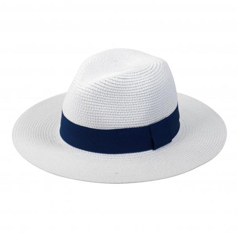 Chapeau de paille publicitaire Fedora personnalisable pour marquage logo