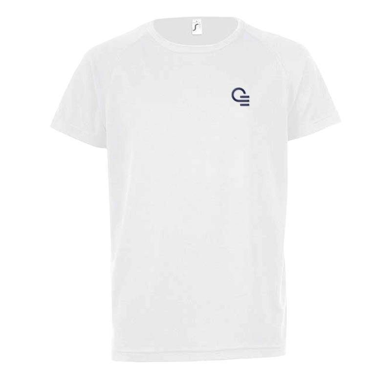 T-shirt publicitaire Sporty taille enfant - Coloris blanc